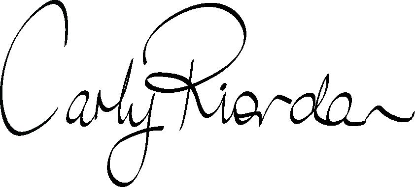 Carly Riordan Signature