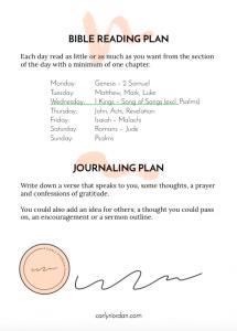 Free easy bible reading plan